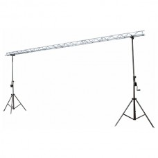 Showtec Two Stand with metal decotruss