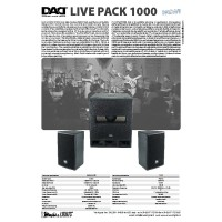 Music&Lights Livepack1000 Sistem de Boxe Active 1000W